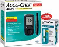 Активный глюкометр Accu-Chek с 10 тест-полосками