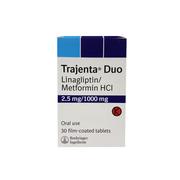Trajenta Duo 2.5/1000mg (линаглиптин метформин)