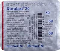 Duralast 30mg (дапоксетин)