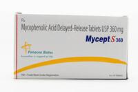 Mycept S 360мг (Микофеноловая кислота)