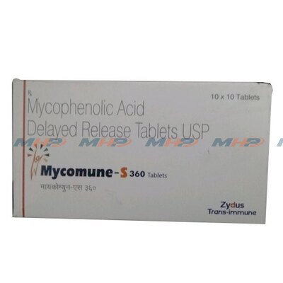 Mycomune S 360мг (Микофеноловая кислота)