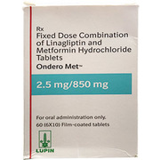 Ondero Met 2.5/850mg (Метформин+линаглиптин)