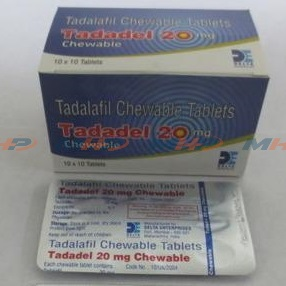 Tadadel Chewable 20 mg(Тадалафил)