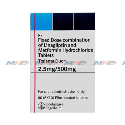 Trajenta Duo 2.5/500mg (линаглиптин метформин)